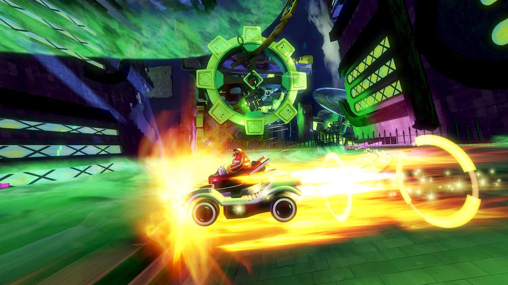 Team Sonic Racing Switch screenshot - Robotnik boosting
