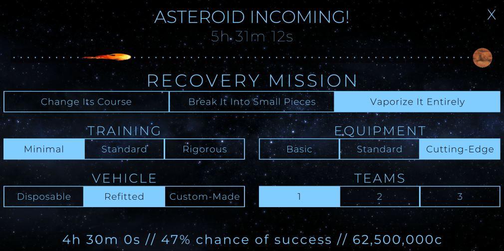 Terragenesis Asteroid Incoming!