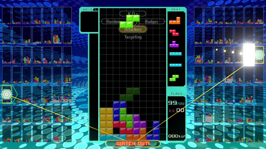 Tetris 99 Switch Screenshot Green Block Falling