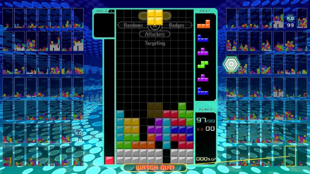 Tetris 99 Switch Screenshot Yellow Block Falling
