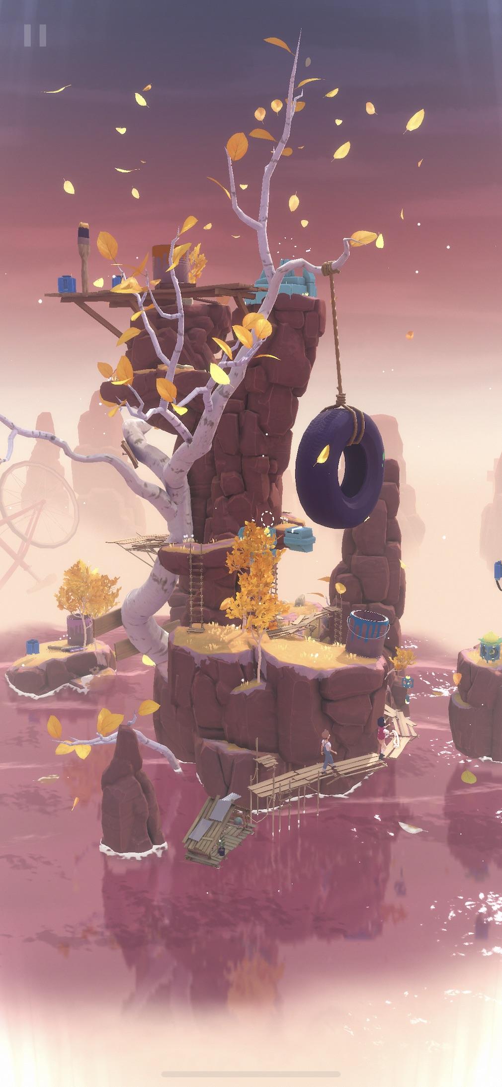 The Gardens Between iOS screenshot - An autumnal level