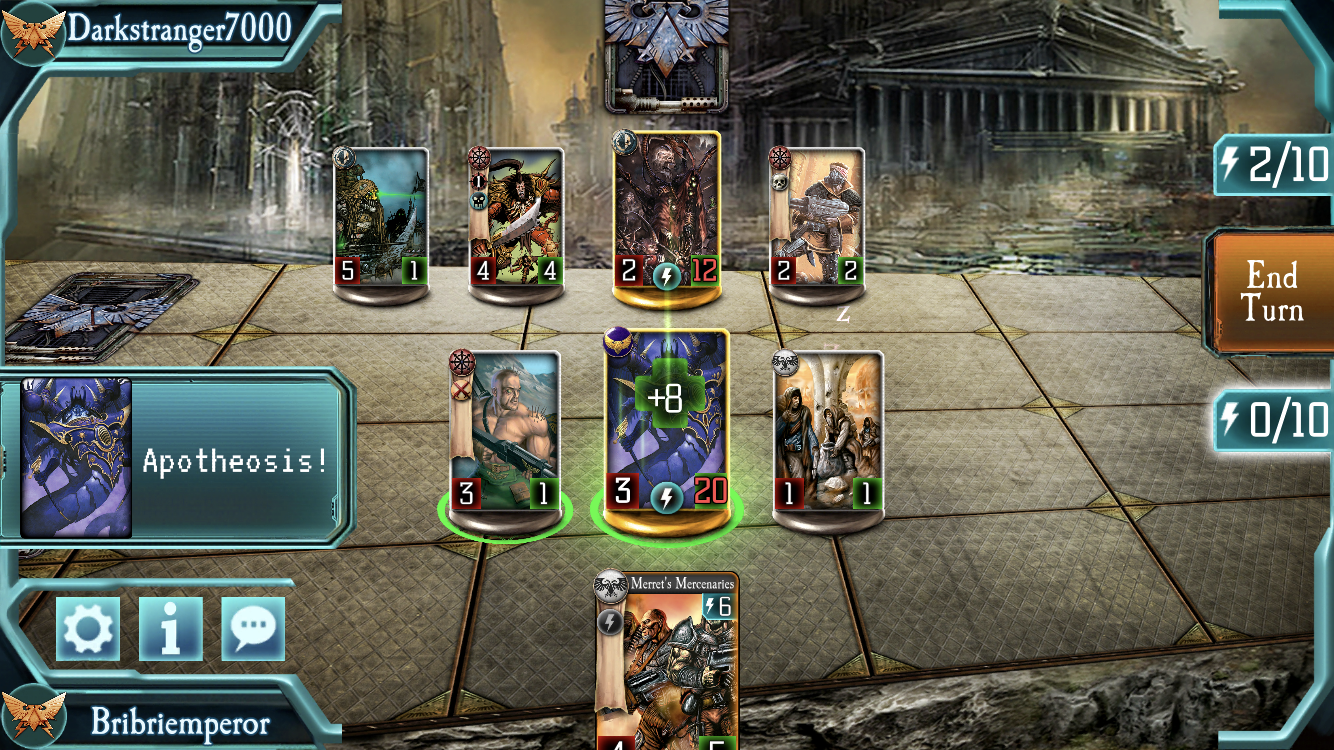 The Horus Heresy: Legions iOS review screenshot - Using a warlord skill