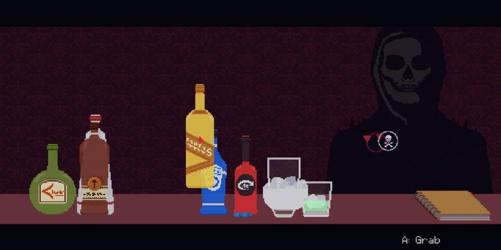 The Red Strings Club Switch Screenshot Mixing A Drink For Death