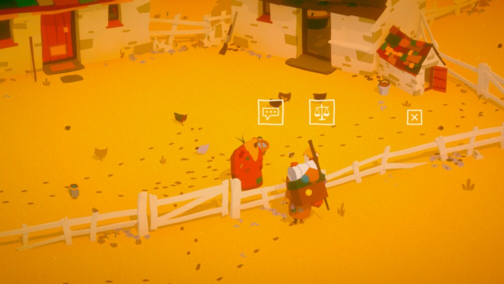 The Stillness of the Wind iOS screenshot - Talking to the salesman