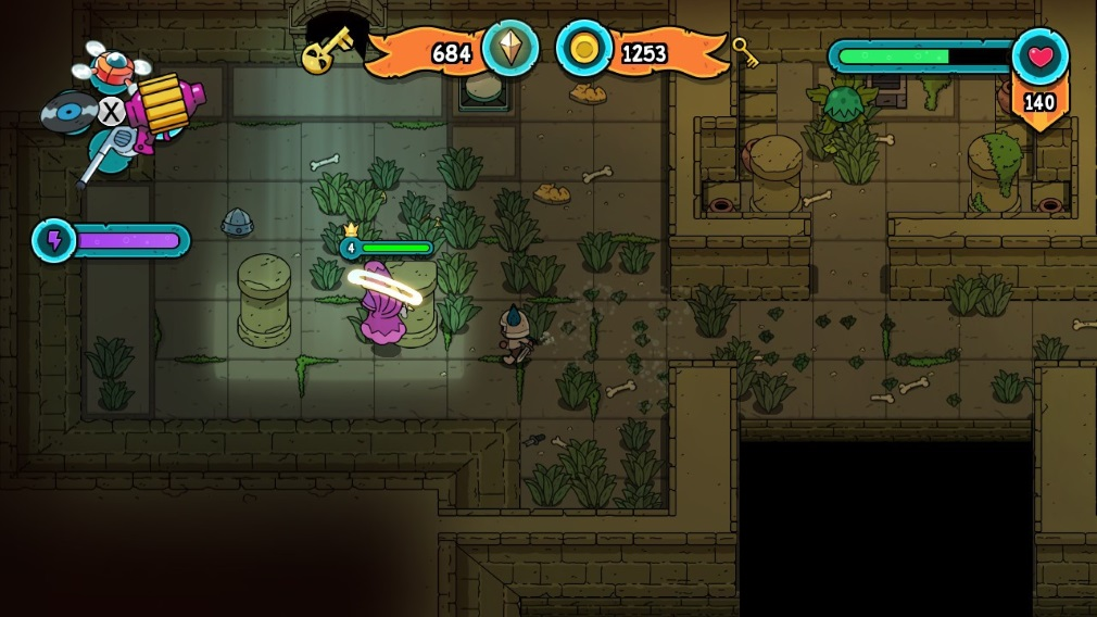 The Swords of Ditto: Mormo's Curse Switch Screenshot Fighting in a Dungeon