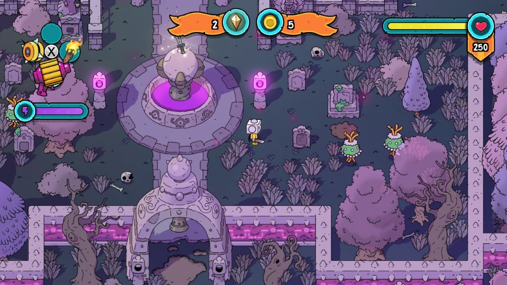 The Swords of Ditto: Mormo's Curse Switch Screenshot Mormo's Palace Gardens