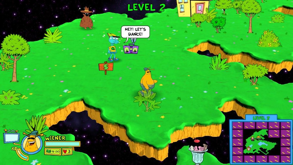 Toejam & Earl: Back in the Groove Switch Screenshot Earl Walking About