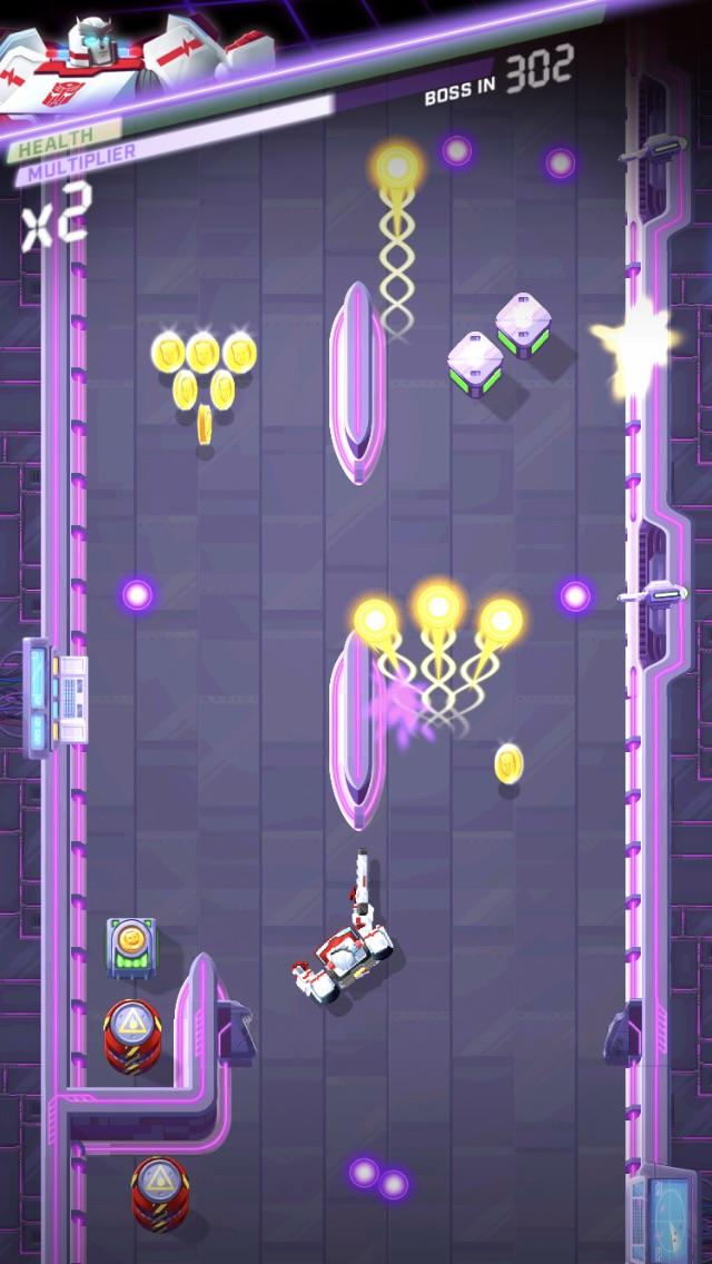 Transformers Bumblebee iOS review screenshot - Working through a base