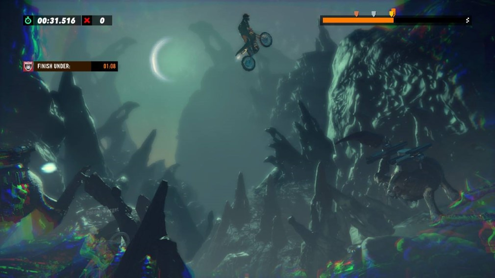 Trials Rising Switch Screenshot Leaping Through Space