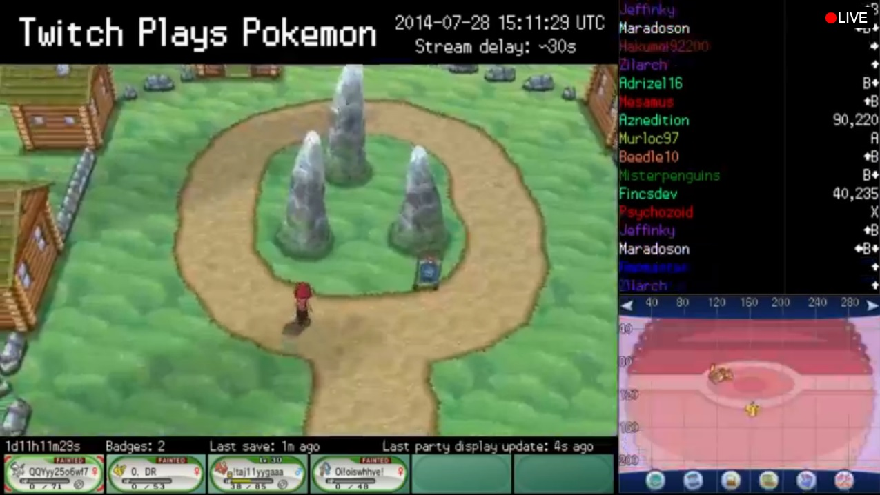 Twitch Plays Pokemon X