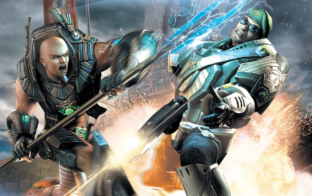 Unreal Championship screenshot - Artwork showing two characters fighting