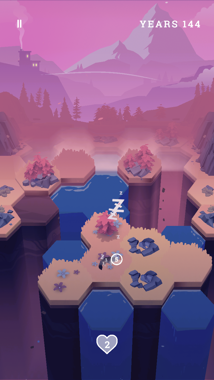 Valleys Between iOS review screenshot - The world in fall