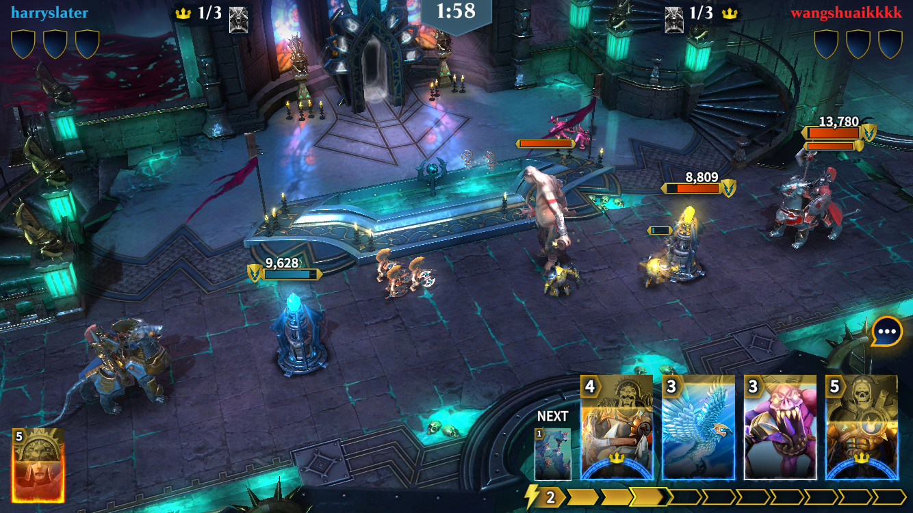 Warhammer Age of Sigmar: Realm Wars iOS review screenshot - Fighting in the realm of the dead