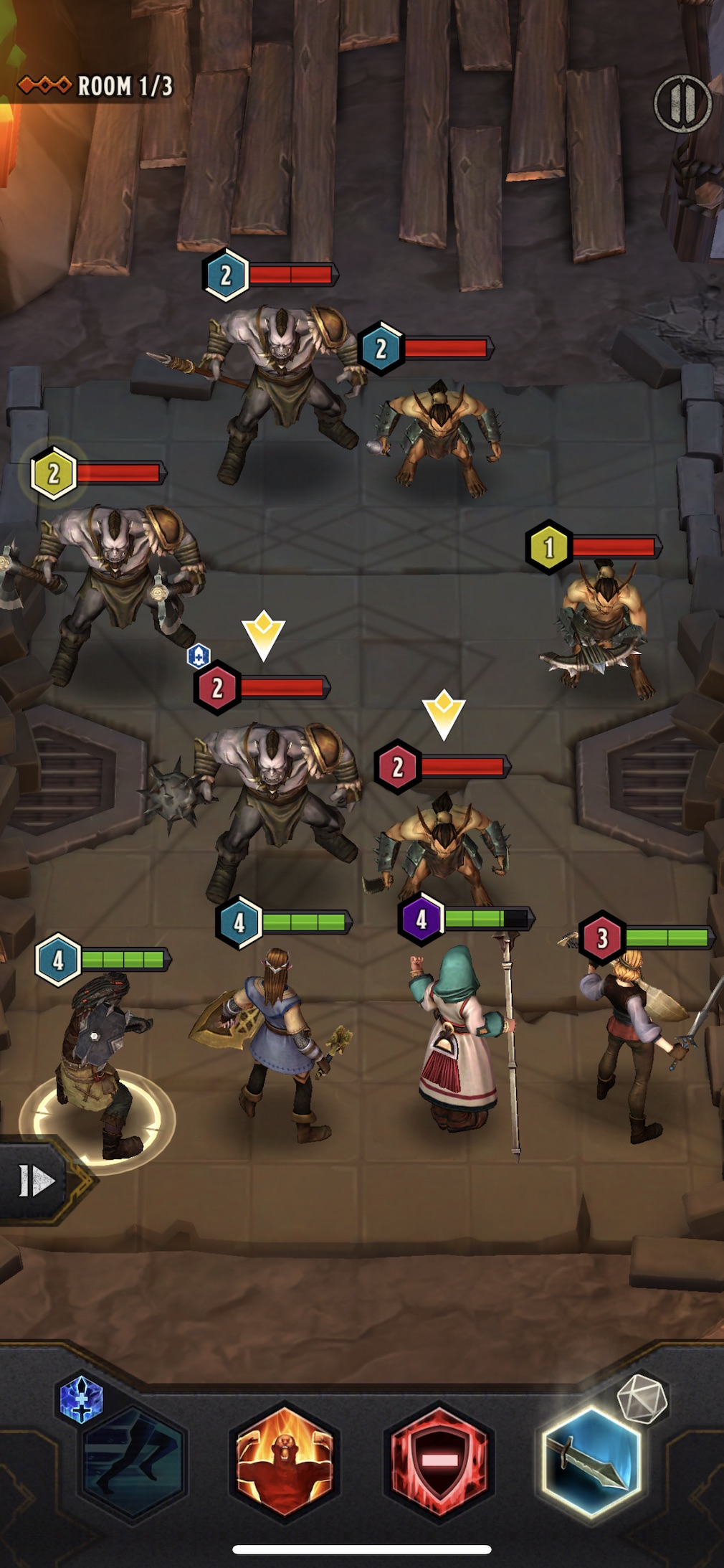Warriors of Waterdeep iOS screenshot - A fight underground