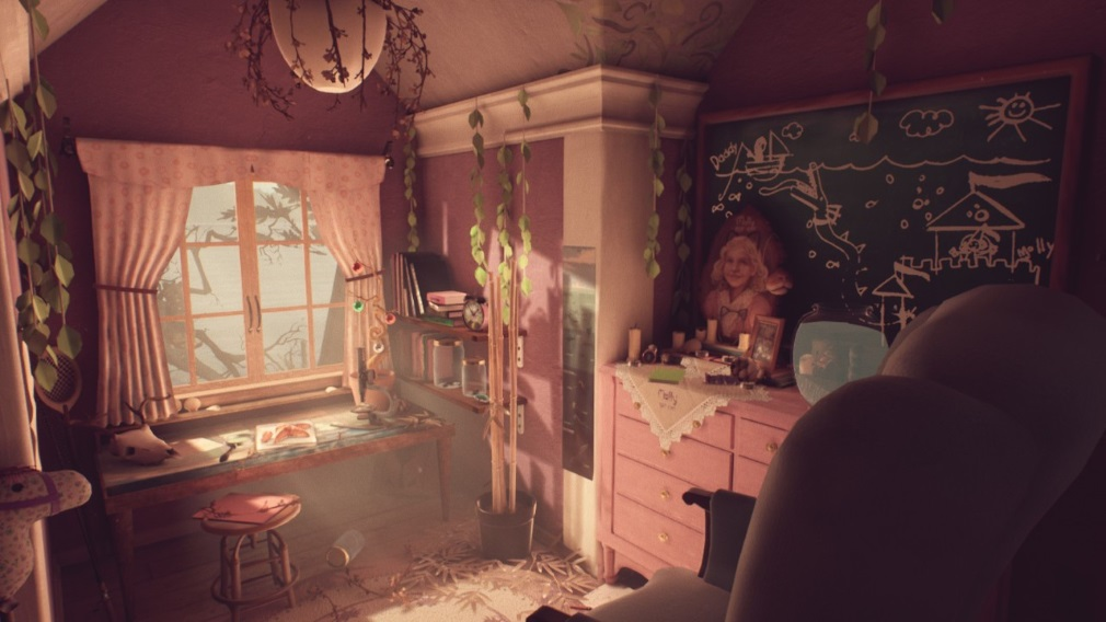 What Remains of Edith Finch Switch Screenshot Pink Room