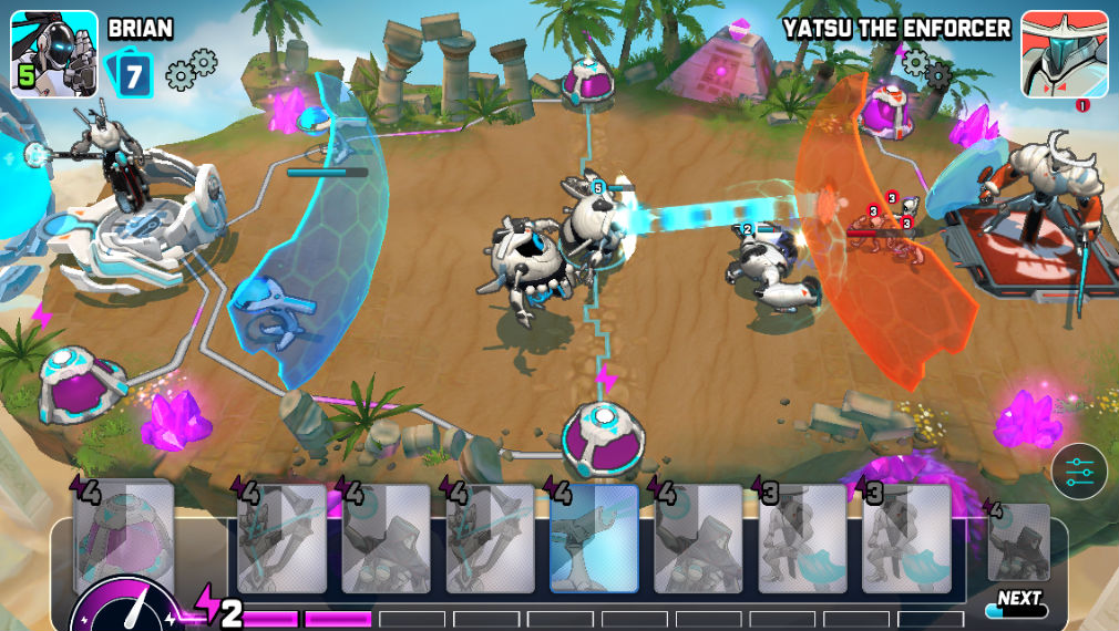 Wild Beyond iOS review screenshot - Sending troops to finish an opponent off