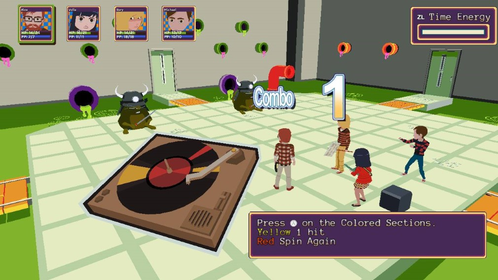 YIIK: A Post-Modern RPG Switch Screenshot Fighting In The Sewer