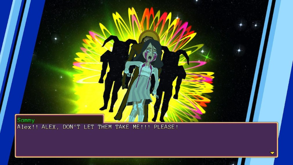 YIIK: A Post-Modern RPG Switch Screenshot Sammy Gets Kidnapped By Entities