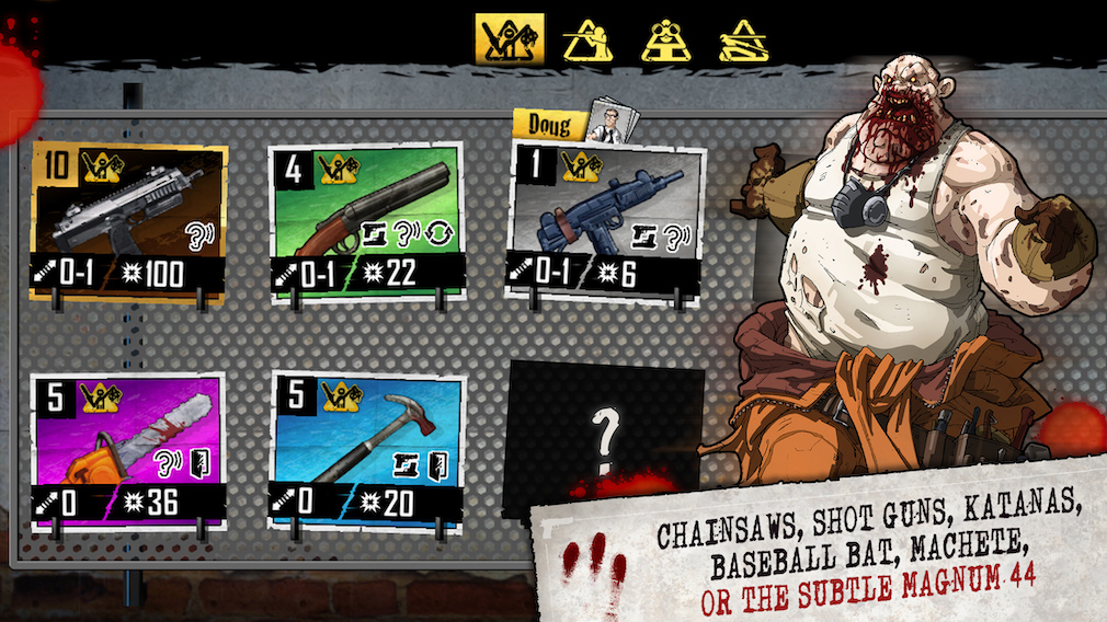 Zombicide iOS screenshot - Artwork showing a fat zombie