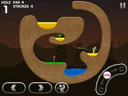 Enjoy some winter golfing in Super Stickman Golf 3's new Alto's Adventure-themed course