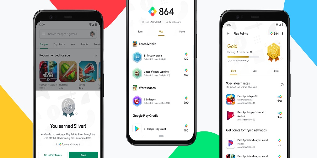 Google Play Points, a reward service for Google's storefront, is available now in the US