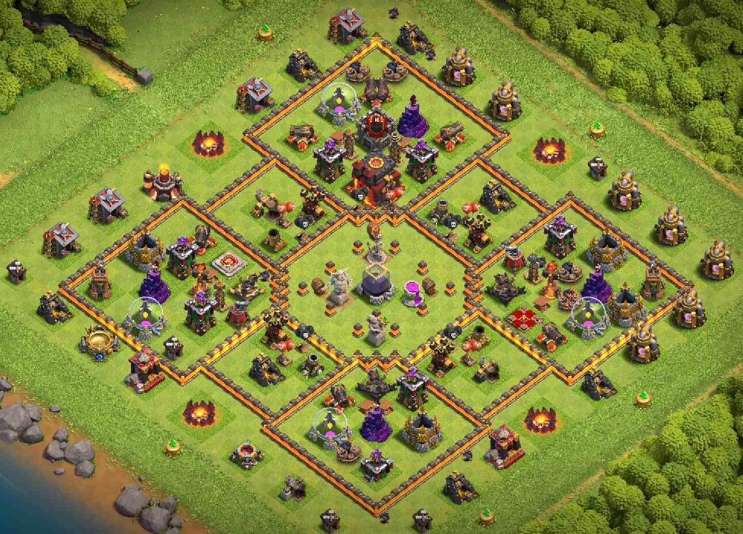 Best CoC bases Town Hall 10