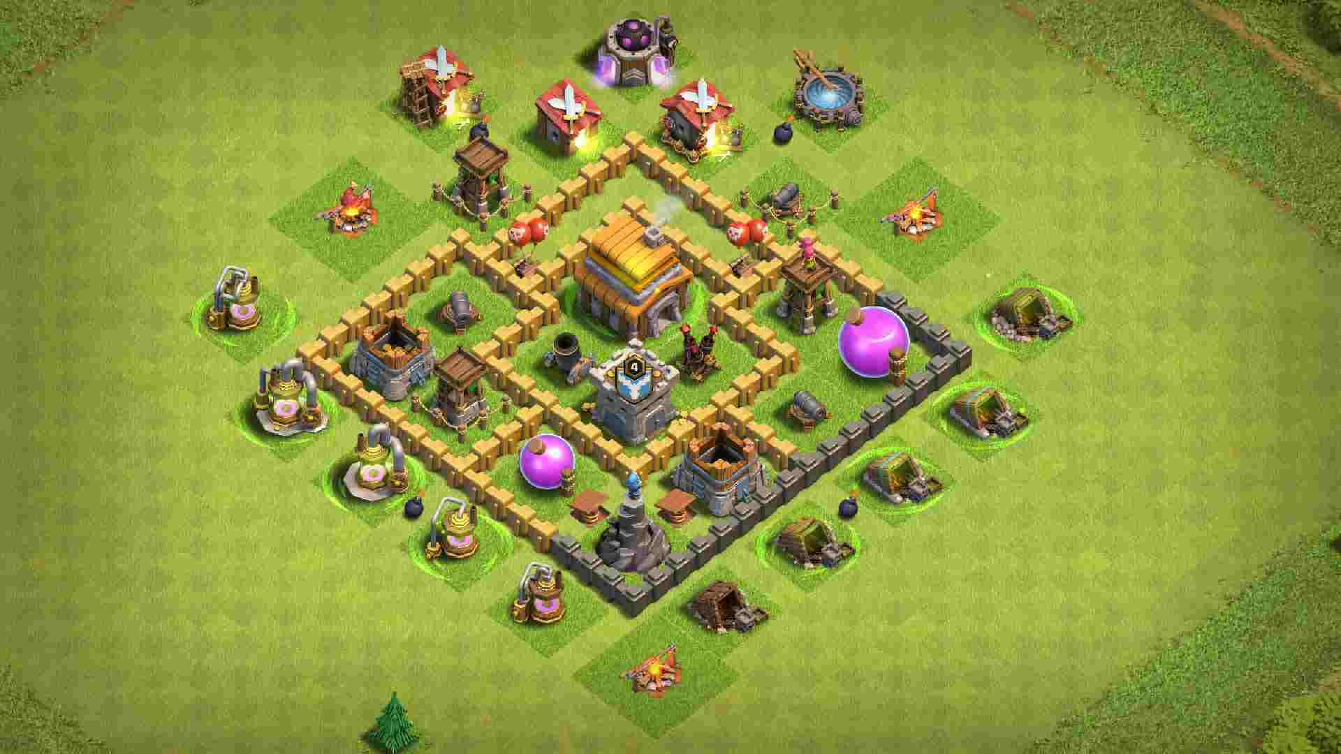 Best CoC bases Town Hall 5