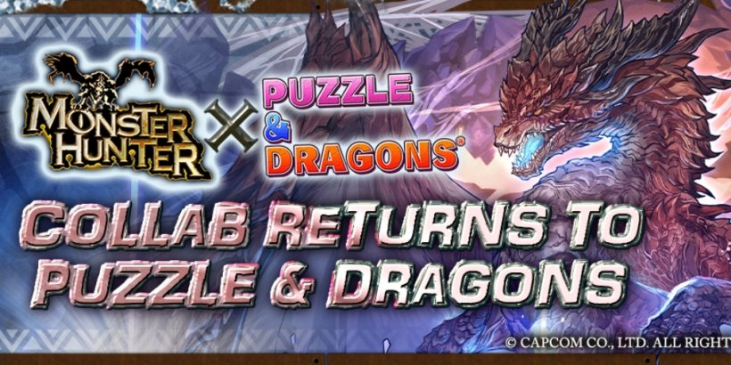 Puzzle & Dragons' Monster Hunter collaboration returns with new dungeons and three new monsters