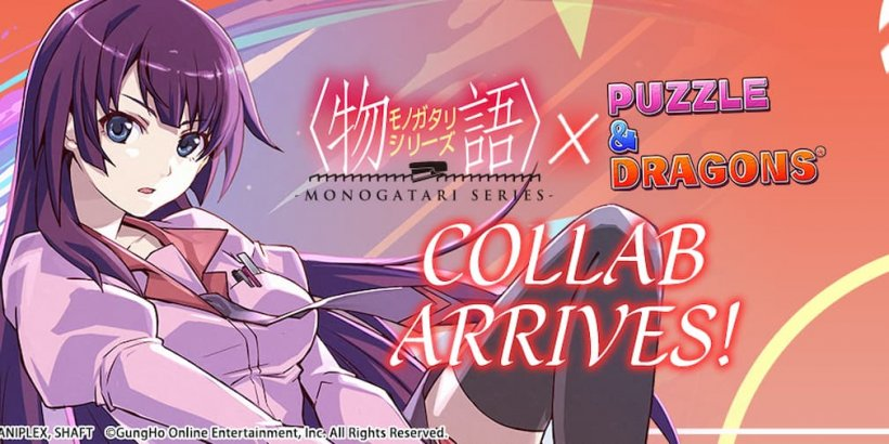 Puzzle & Dragons' latest collaborative event introduces characters from the Monogatari series