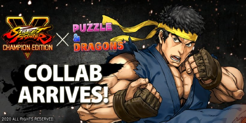 Puzzle & Dragons partners with Street Fighter V for a crossover featuring classic fighting characters