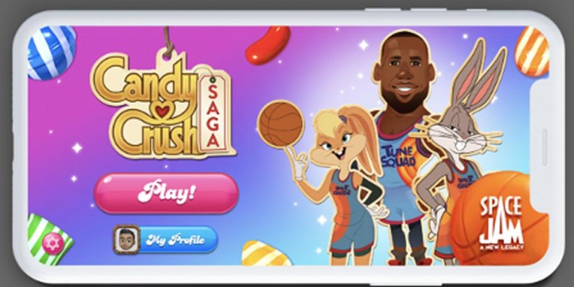 Candy Crush Saga welcomes a candified LeBron James in Space Jam: A New Legacy collab event