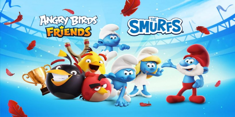 Angry Birds Friends collaborates with The Smurfs for new event