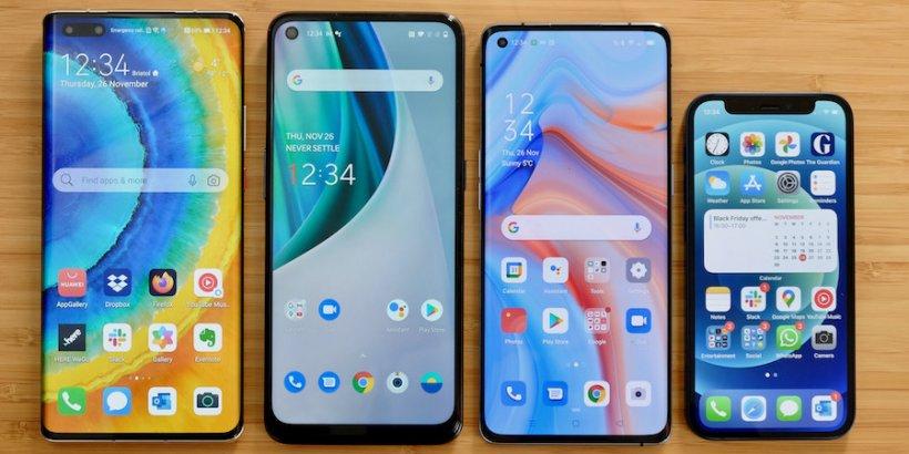 November 2021 handset round-up - iPhone 12 mini, Huawei Mate 40 Pro, Oppo Reno4 Pro, OnePlus N10