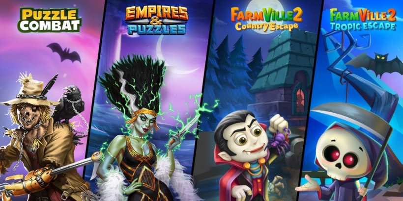 Zynga is celebrating Halloween with various events in Empires & Puzzles, Puzzle Combat, and FarmVille 2: Country Escape