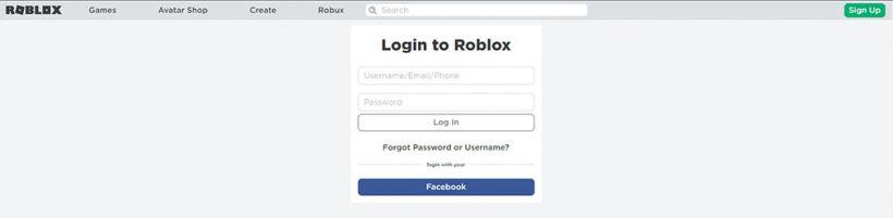 Roblox login mobile