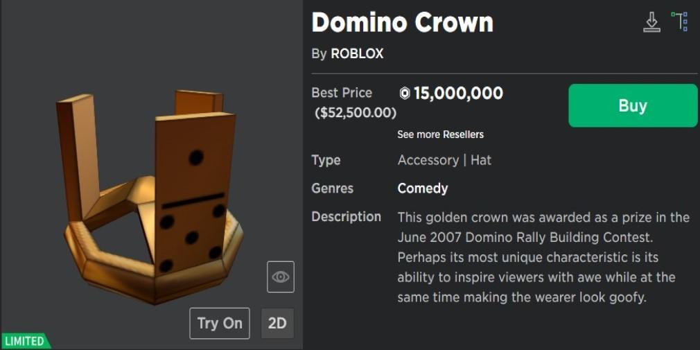 Roblox catalog - Domino Crown