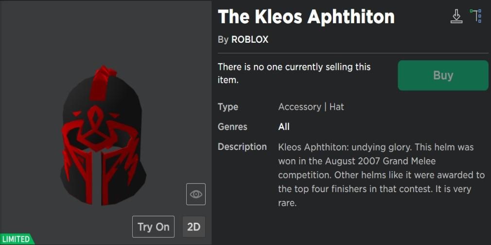 Roblox catalog Kleos