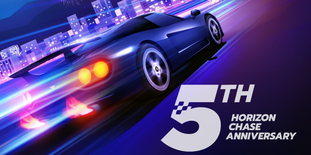 Horizon Chase is celebrating its 5th anniversary and 50 million downloads with special events and rewards