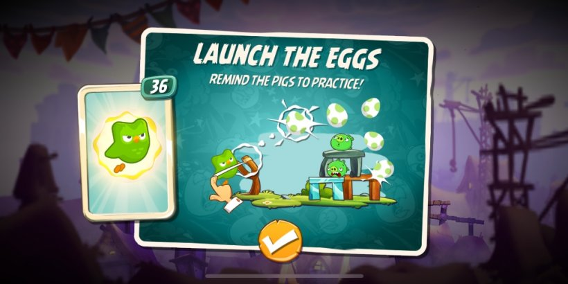 Angry Birds 2 gets an intriguing crossover event with educational app Duolingo