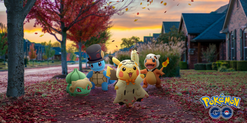 Pokemon GO Halloween event adds costumed versions of Pikachu, Charmander, and more