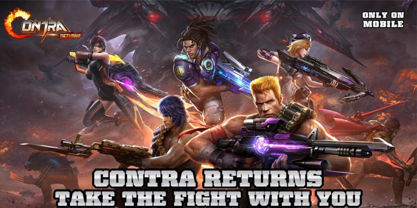 Contra Returns is pure arcade nostalgia, now open for pre-registration in all global regions