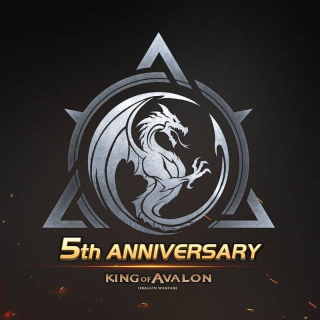 Logotipo de King of Avalon para el quinto aniversario