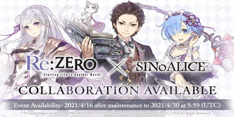 Square Enix's SINoALICE teams up with hit anime Re: Zero for a crossover event