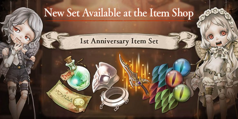SINoALICE celebrates 1st anniversary with login bonuses and merch giveaway on social media
