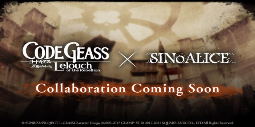 SINoALICE is collaborating with the anime Code Geass: Lelouch of the Rebellion
