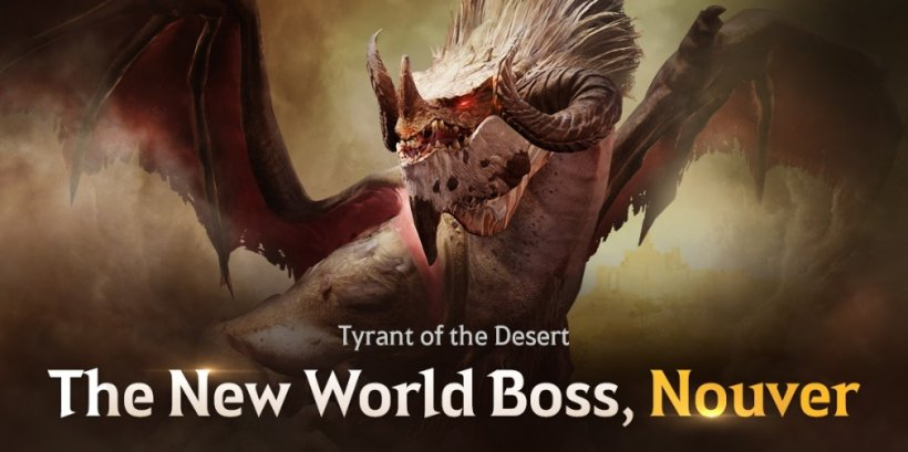 Black Desert Mobile introduces its latest world boss, a ferocious dragon named Nouver