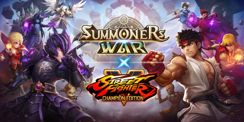 Summoners War's Street Fighter V crossover has now kicked off, adding Ryu, M. Bison, Chun-Li, and more