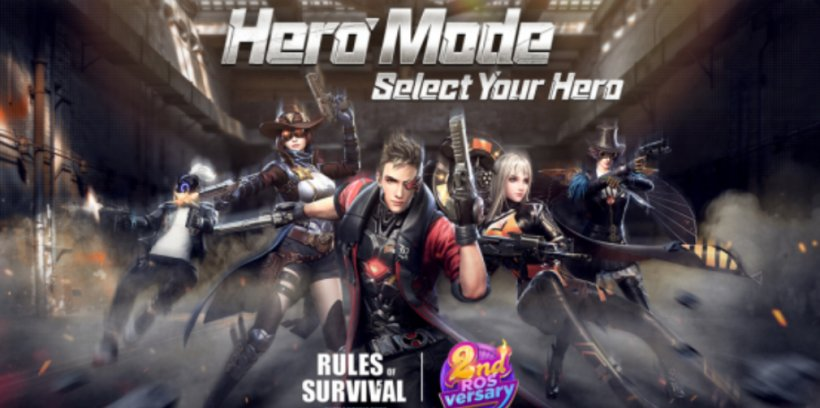 Rules of Survival celebrates its second anniversary with Score Royale, Hero Mode, and fresh login bonuses