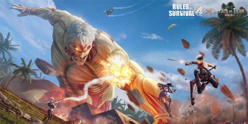 Rules of Survival's latest collaboration sees characters from Attack on Titan arrive in the battle royale