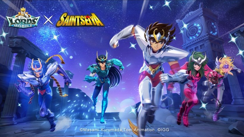 Lords Mobile combines real-time strategy with Saint Seiya's stellar mythology in an exciting new collab event